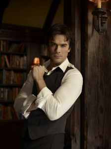Damon -- WITH BOOKS!