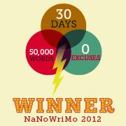 I won NaNoWriMo 2012!